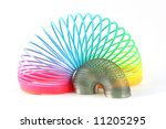 rainbow and metal springs... | Shutterstock . vector #11205295