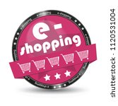 e shopping cart glossy button   ...