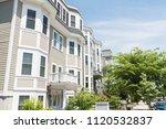 real estate housing background... | Shutterstock . vector #1120532837