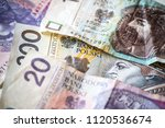 polish money background | Shutterstock . vector #1120536674