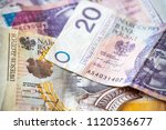 polish money background | Shutterstock . vector #1120536677