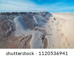 Aerial Of Athabasca Sand Dunes...
