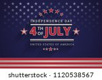 happy independence day usa 4th... | Shutterstock .eps vector #1120538567