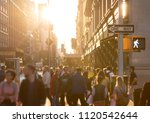 diverse crowd of anonymous... | Shutterstock . vector #1120542644