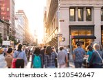 diverse group of anonymous... | Shutterstock . vector #1120542647