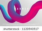 fluid color shape on light... | Shutterstock .eps vector #1120543517