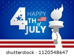 happy 4th of july united states ... | Shutterstock .eps vector #1120548647