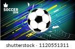 soccer vector illustration.... | Shutterstock .eps vector #1120551311