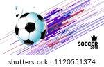 soccer vector illustration.... | Shutterstock .eps vector #1120551374