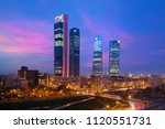 madrid four towers financial... | Shutterstock . vector #1120551731
