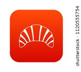 croissant icon digital red for... | Shutterstock . vector #1120555754