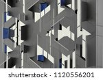 abstract modern architecture... | Shutterstock . vector #1120556201