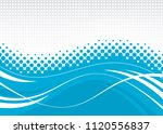 blue abstract wavy background.... | Shutterstock .eps vector #1120556837