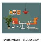 vector interior design... | Shutterstock .eps vector #1120557824