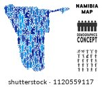 vector population namibia map.... | Shutterstock .eps vector #1120559117