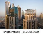 dubai skyscrapers. dubai marina ... | Shutterstock . vector #1120563035