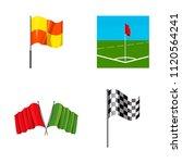 flag icon set. cartoon set of... | Shutterstock . vector #1120564241