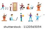 people with object icon set.... | Shutterstock . vector #1120565054