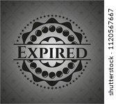 expired black emblem | Shutterstock .eps vector #1120567667
