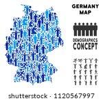 vector population germany map.... | Shutterstock .eps vector #1120567997