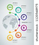 abstract 3d infographic... | Shutterstock .eps vector #1120568975