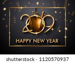 2019 happy new year background... | Shutterstock .eps vector #1120570937