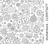 new year 2019 hand drawn... | Shutterstock .eps vector #1120572677