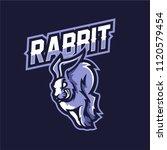 rabbit esport gaming mascot...   Shutterstock .eps vector #1120579454