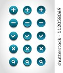 a set of blue vector round web... | Shutterstock .eps vector #112058069