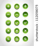 a set of green vector round web ... | Shutterstock .eps vector #112058075