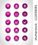 a set of purple vector round... | Shutterstock .eps vector #112058081