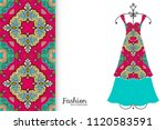 fashion art collection  vector... | Shutterstock .eps vector #1120583591