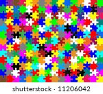 pieces of a puzzle   with... | Shutterstock . vector #11206042