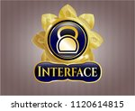 golden emblem or badge with... | Shutterstock .eps vector #1120614815