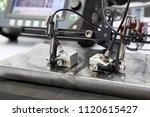 ultrasonic probe testing... | Shutterstock . vector #1120615427