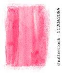 pink hand painted watercolor... | Shutterstock . vector #112062089