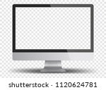 computer monitor display with... | Shutterstock .eps vector #1120624781