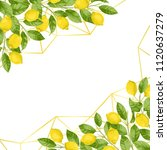 lemons in watercolor style and... | Shutterstock .eps vector #1120637279