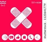 cross adhesive bandage  medical ... | Shutterstock .eps vector #1120641779