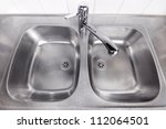 stainless steel kitchen wash... | Shutterstock . vector #112064501