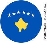 circular flag of kosovo   Shutterstock .eps vector #1120654469