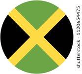 circular flag of jamaica   Shutterstock .eps vector #1120654475