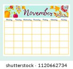cute monthly planner with... | Shutterstock .eps vector #1120662734