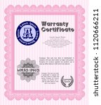pink warranty template. cordial ... | Shutterstock .eps vector #1120666211