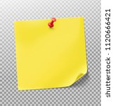 yellow stick paper notes on... | Shutterstock .eps vector #1120666421