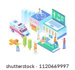 modern isometric smart hospital ... | Shutterstock .eps vector #1120669997