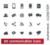 Web, communication icons: internet vector set.   Shutterstock vector #112067309