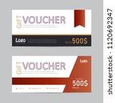 voucher gift certificate coupon ...   Shutterstock . vector #1120692347
