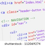 css and html code | Shutterstock .eps vector #112069274