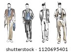 fashion man. set of fashionable ... | Shutterstock .eps vector #1120695401